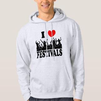 I Love festivals (blk) Hoodie