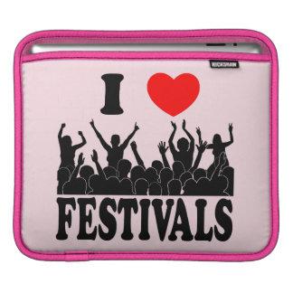 I Love festivals (blk) iPad Sleeves