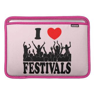 I Love festivals (blk) MacBook Sleeve