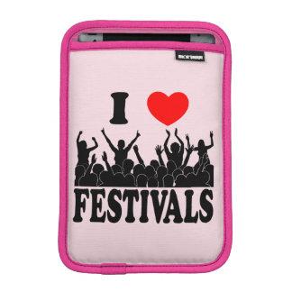 I Love festivals (blk) Sleeve For iPad Mini