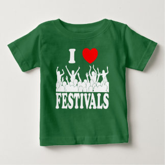 I Love festivals (wht) Baby T-Shirt
