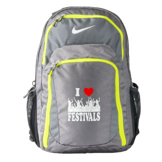 I Love festivals (wht) Backpack