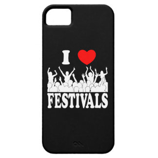 I Love festivals (wht) Barely There iPhone 5 Case