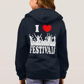 I Love festivals (wht) Hoodie
