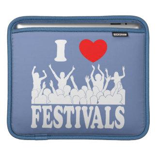 I Love festivals (wht) iPad Sleeves
