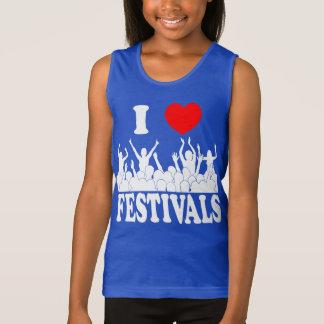I Love festivals (wht) Tank Top