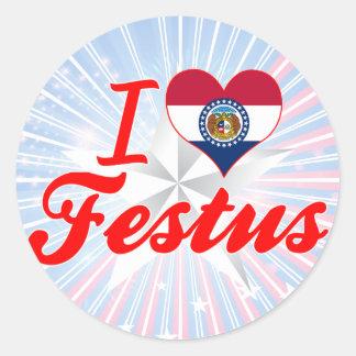 I Love Festus Missouri Round Sticker