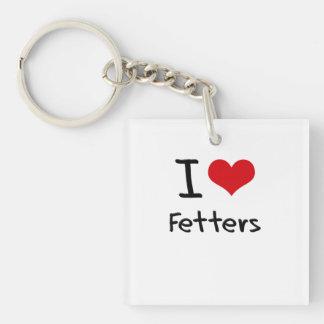 I Love Fetters Single-Sided Square Acrylic Key Ring