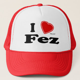 I Love Fez Trucker Hat