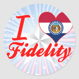 I Love Fidelity, Missouri Round Stickers