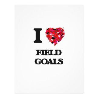 I love Field Goals 21.5 Cm X 28 Cm Flyer