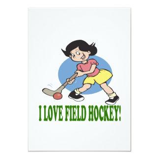 I Love Field Hockey 2 13 Cm X 18 Cm Invitation Card