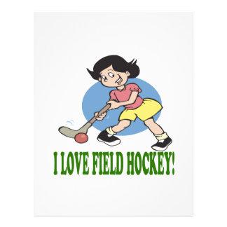 I Love Field Hockey 2 Flyer Design