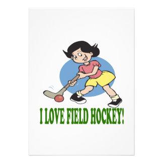 I Love Field Hockey 2 Custom Invites