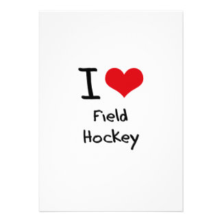 I Love Field Hockey Personalized Announcements