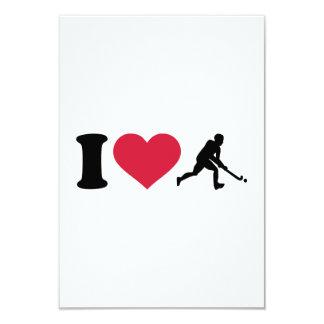 I love Field hockey player Invitations