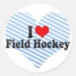 I Love Field Hockey Stickers