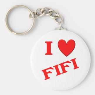 I Love Fifi Key Ring