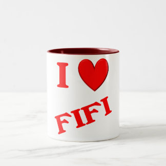 I Love Fifi Two-Tone Coffee Mug