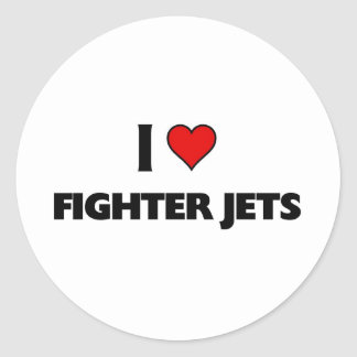 I love Fighter jets Round Sticker