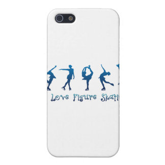 I love figure skating- blue cover for iPhone 5/5S
