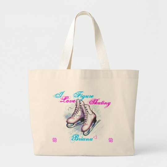 I love Figure Skating, Briana Large Tote Bag