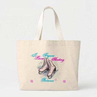 I love Figure Skating Briana Tote Bags