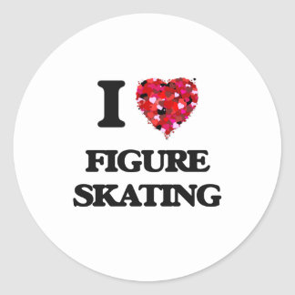 I Love Figure Skating Classic Round Sticker