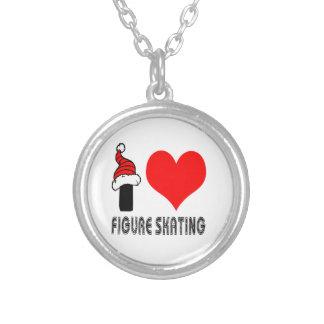 I Love Figure Skating Design Custom Necklace