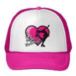 I LOVE FIGURE SKATING HEART GIRL PINK HATS