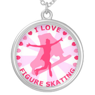 I Love Figure Skating Personalized Necklace