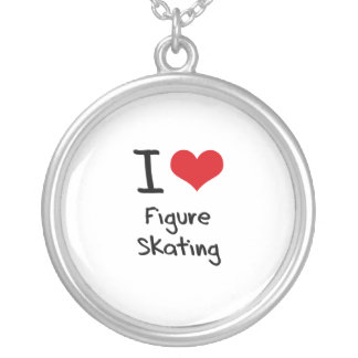 I Love Figure Skating Necklaces