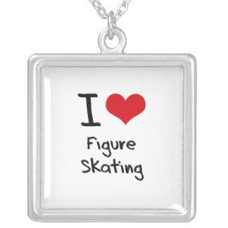 I Love Figure Skating Custom Necklace