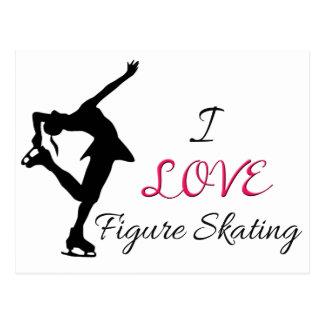 I Love Figure Skating Post Cards
