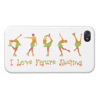 I Love Figure Skating  sherbert Cases For iPhone 4