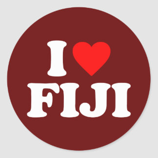 I LOVE FIJI CLASSIC ROUND STICKER