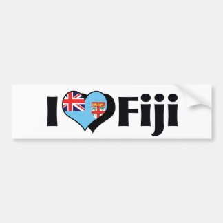 I Love Fiji Flag Bumper Sticker