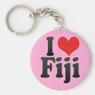 I Love Fiji Key Ring