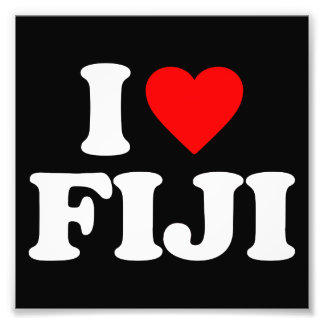 I LOVE FIJI PHOTOGRAPHIC PRINT