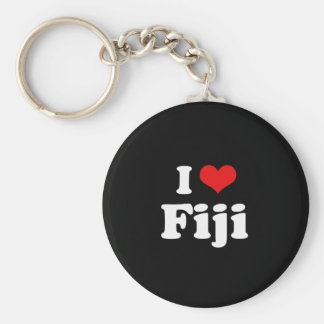 I Love Fiji Tshirt Key Ring