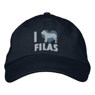 I Love Filas Embroidered Hat (Blue)