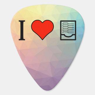 I Love File Storrage Plectrum