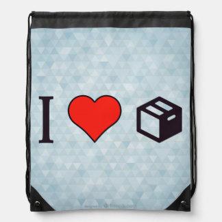 I Love Filing Cabinets Drawstring Bag