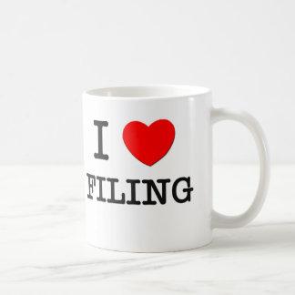 I Love Filing Basic White Mug