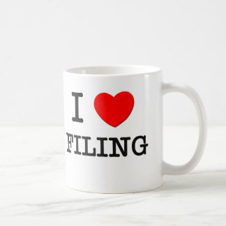 I Love Filing Mug