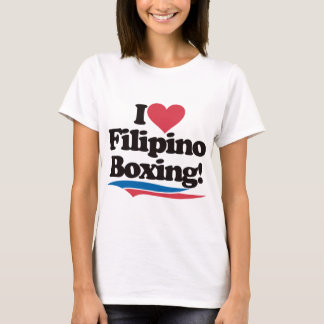 I Love Filipino Boxing T-Shirt
