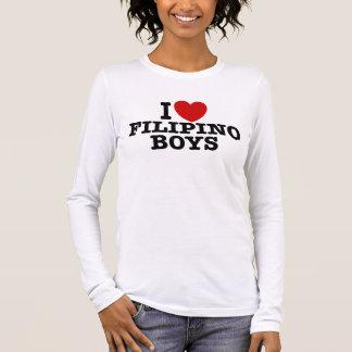 I Love Filipino Boys Long Sleeve T-Shirt