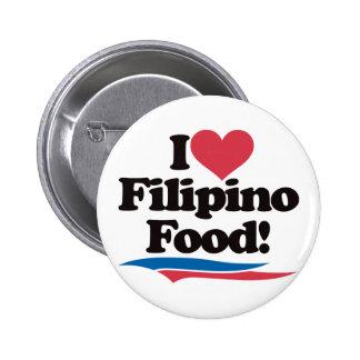 I Love Filipino Food Pins