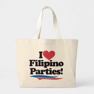 I Love Filipino Parties Tote Bag