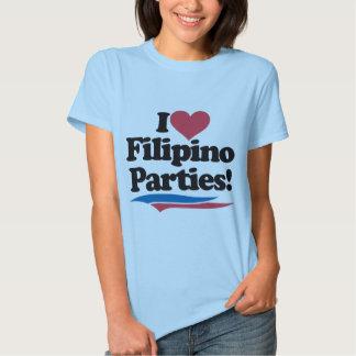 I Love Filipino Parties Tee Shirt